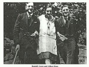 Rudolf, Grete und Albert Katz