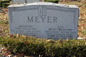 Grabstein Meinhard Meyer